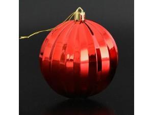 Κόκκινη Χριστουγεννιάτικη Μπάλα 8 εκ.