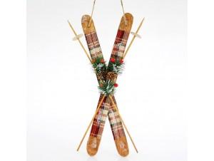 Χριστουγεννιάτικο διακοσμητικό στολίδι σε σχήμα πέδιλα του σκι 50 εκ.
