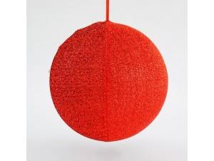 Υφασμάτινη Χριστουγεννιάτικη μπάλα 40 εκ.
