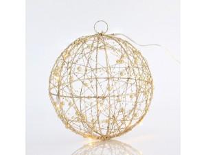 Φωτιζόμενη Χριστουγεννιάτικη μπάλα διακόσμησης 20 εκ.