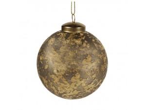 Χρυσή Ματ Χριστουγεννιάτικη Μπάλα 10 εκ.