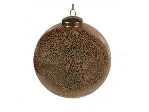 Χρυσή Γυαλιστερή Γυάλινη Χριστουγεννιάτικη Μπάλα 10 εκ.