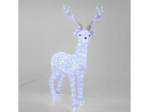 Φωτιζόμενο Χριστουγεννιάτικο ελάφι για εξωτερική διακόσμηση  90 x 30 x 135 εκ.