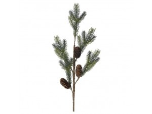 Πράσινο Χριστουγεννιάτικο Διακοσμητικό Κλαδί 75 εκ.