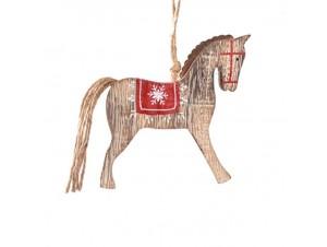 Ξύλινο Χριστουγεννιάτικο Στολίδι Άλογο 11 x 1,2 x 12 εκ.