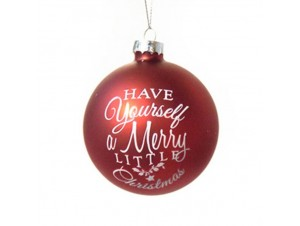 Γυάλινη Ματ Χριστουγεννιάτικη Μπάλα 10 εκ.