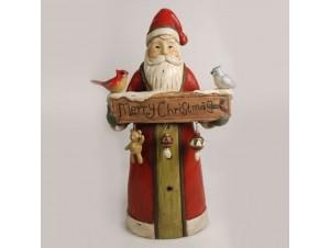 Χριστουγεννιάτικος διακοσμητικός Άγιος Βασίλης 32 x 17.5 x 51 εκ.