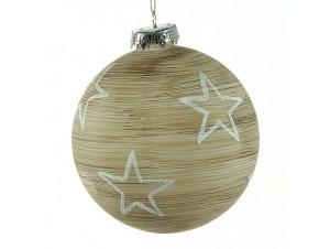 Γυάλινη Χριστουγεννιάτικη Μπάλα με σχέδιο 10 εκ