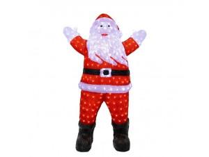 Φωτιζόμενος Χριστουγεννιάτικος διακοσμητικός Άγιος Βασίλης 76 x 47 x 120 εκ.