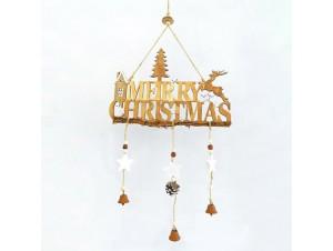 Ξύλινο κρεμαστό Χριστουγεννιάτικο διακοσμητικό 30 x 0,5 x 60 εκ.