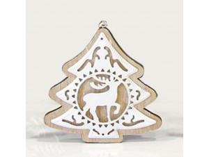 Ξύλινο κρεμαστό Χριστουγεννιάτικο διακοσμητικό στολίδι 10 εκ.