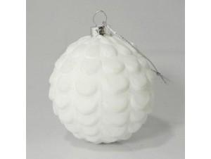 Γυάλινη πολύγωνη Χριστουγεννιάτικη μπάλα 8 εκ.