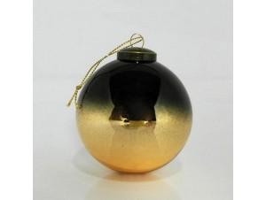 Γυάλινη δίχρωμη Χριστουγεννιάτικη μπάλα 8 εκ.