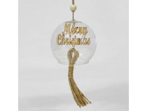 Χριστουγεννιάτικη μπάλα καμπάνα 8 εκ.