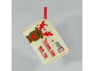 Τσόχινο διακοσμητικό στολίδι για Χριστουγεννιάτικο δέντρο φάκελος 11 εκ.
