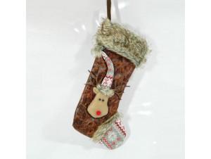 Χριστουγεννιάτικη διακοσμητική κάλτσα 44 εκ.