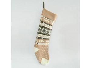 Χριστουγεννιάτικη διακοσμητική κάλτσα 63 εκ.