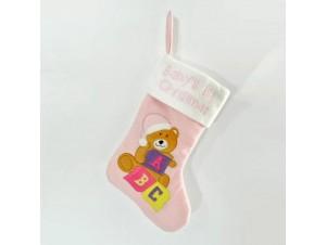 Χριστουγεννιάτικη διακοσμητική παιδική κάλτσα 40 εκ.