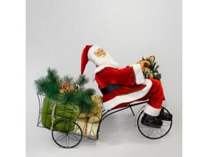 Χριστουγεννιάτικο διακοσμητικό - Άγιος Βασίλης σε τρίκυκλο 150 εκ