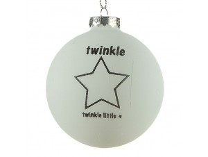 Γυάλινη ματ Χριστουγεννιάτικη μπάλα διακόσμησης 8 εκ.