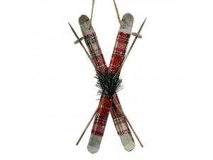 Χριστουγεννιάτικο διακοσμητικό στολίδι σκι 28 εκ.