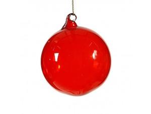 Μονόχρωμη μπάλα διακόσμησης Χριστουγεννιάτικου δέντρου 8 εκ.