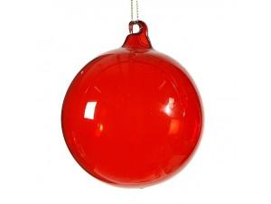 Μονόχρωμη μπάλα διακόσμησης Χριστουγεννιάτικου δέντρου 10 εκ.