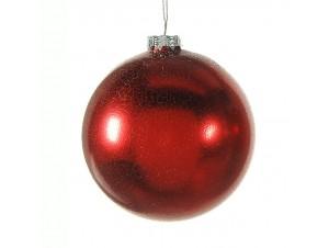 Γυάλινη ματ Χριστουγεννιάτικη μπάλα διακόσμησης 12 εκ.