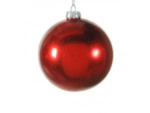 Γυάλινη ματ Χριστουγεννιάτικη μπάλα διακόσμησης 10 εκ.