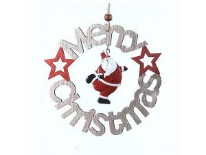 Ξύλινο κρεμαστό Χριστουγεννιάτικο στολίδι 16 εκ.