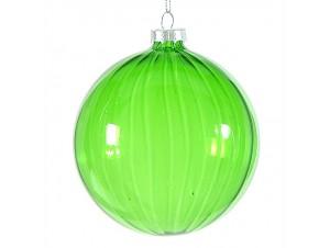 Πράσινη διάφανη Χριστουγεννιάτικη μπάλα 10 εκ.
