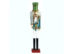 Χριστουγεννιάτικος καρυοθραύστης με γκλίτερ 35,5 εκ.