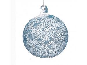Διάφανη Χριστουγεννιάτικη μπάλα διακόσμησης  10 εκ.