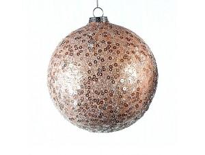 Καφέ Χριστουγεννιάτικη μπάλα διακόσμησης 12 εκ.
