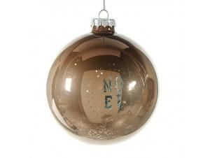 Γυάλινη Χριστουγεννιάτικη μπάλα με κείμενο 10 εκ.