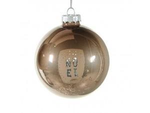 Γυάλινη Χριστουγεννιάτικη μπάλα με κείμενο 8 εκ.