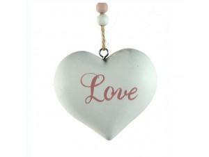 Ξύλινο Χριστουγεννιάτικο στολίδι καρδιά 4,5 εκ.