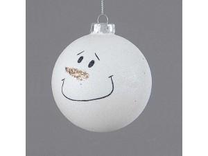 Γυάλινη Χριστουγεννιάτικη μπάλα διακόσμησης 8 εκ. με σχέδιο