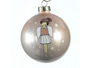 Γυάλινη παιδική μπάλα Χριστουγεννιάτικου δέντρου 8 εκ.