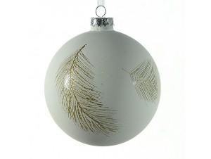 Χριστουγεννιάτικη ματ μπάλα διακόσμησης 10 εκ.