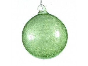 Γυάλινη μπάλα Χριστουγέννων πράσινη 8 εκ.