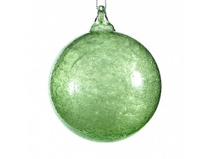 Γυάλινη μπάλα Χριστουγέννων πράσινη 10 εκ.