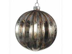 Χριστουγεννιάτικη ανάγλυφη μπάλα διακόσμησης 10 εκ.