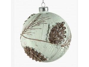 Χριστουγεννιάτικη ανάγλυφη μπάλα διακόσμησης 12 εκ.