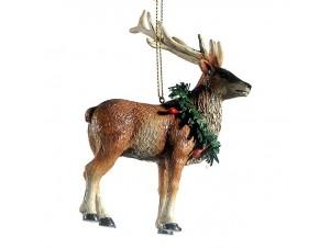 Χριστουγεννιάτικο κρεμαστό στολίδι τάρανδος 11 εκ.