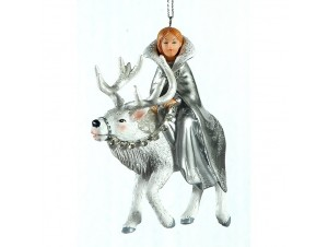 Χριστουγεννιάτικο κρεμαστό στολίδι βασίλισσα του χιονιού 10 εκ.