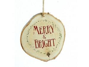 Ξύλινο Χριστουγεννιάτικο στολίδι κορμός 10 εκ.