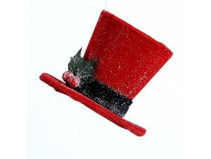 Χριστουγεννιάτικο κρεμαστό στολίδι καπέλο 10 εκ.