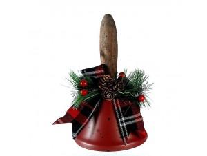 Χριστουγεννιάτικο διακοσμητικό καμπανάκι 15 εκ.
