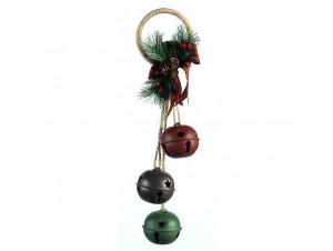 Μεταλλικό Χριστουγεννιάτικο κρεμαστό καμπανάκια 35 εκ.